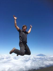 Op de top van de Kilimanjaro, augustus 2015